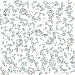 Beautiful olive branches pattern