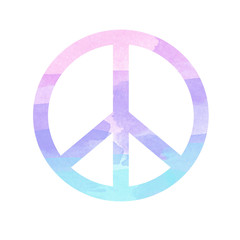 art print canvas background illustration peace sign - symbol icon watercolor illustration