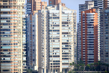 Tall apartment buildings in Sao Paulo