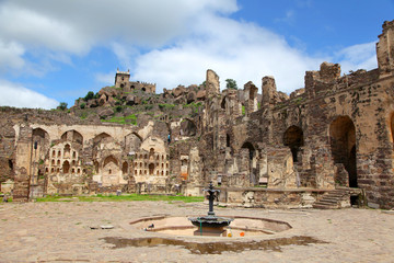 Golconda fort in Hyderabad in India