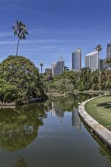 Teich im Royal Botanic Gardens in Sydney