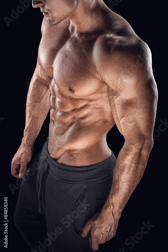 Body Of Muscular Male With Great Physique Stock Photo And Royalty
