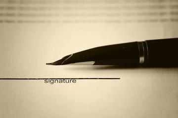 pen signature contract