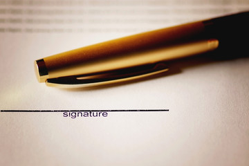 pen signature contract