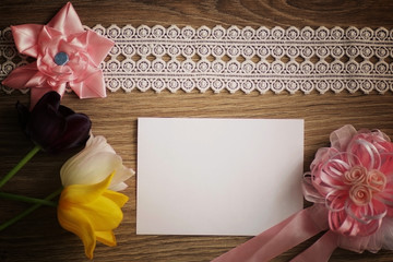 background for letters tree flowers