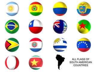 South america state flags
