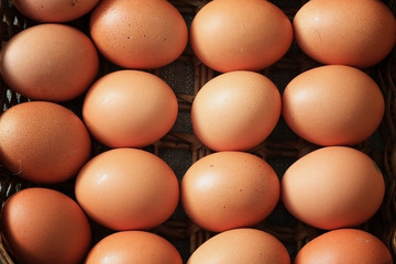 eggs burlap rustic style