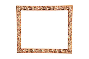 Modern wood frame painted gold