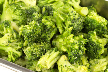 delicious broccoli closeup