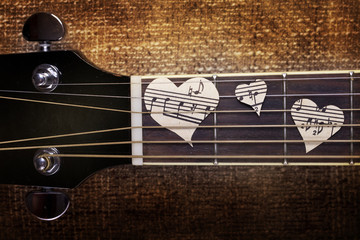 guitar and musical heart