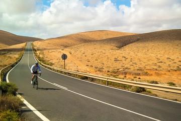 Racing cyclist on Fuerteventura