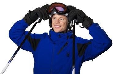 Skiing, Ski, Sunglasses.