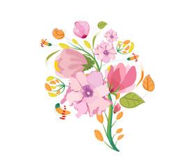 Flower Bouquet Watercolor Clipart