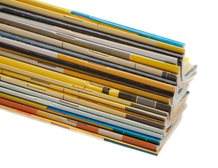 Magazine, Stack, Catalog.