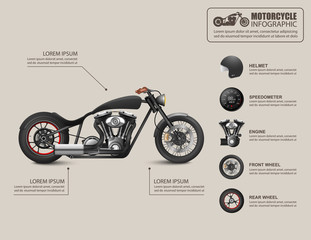 Motorcycle infographic. Vector illustration