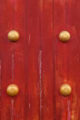 Red chinese door.