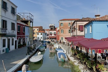 Colorful house in Burano island, Italy