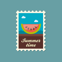 Watermelon Slice flat stamp, summertime