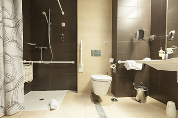 Bathroom for disabled people