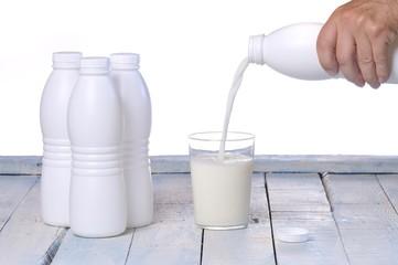 Milk bottles..