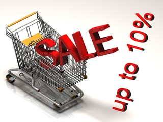 Shopping Cart With Ten Percent Discount Sale