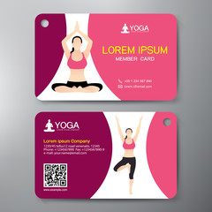 Yoga and Sport Card Design.