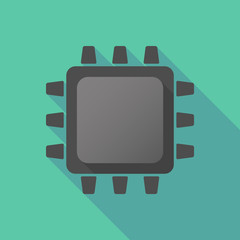 Black CPU icon