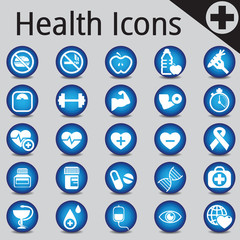 Web Site and Internet Icons medicine fitness health