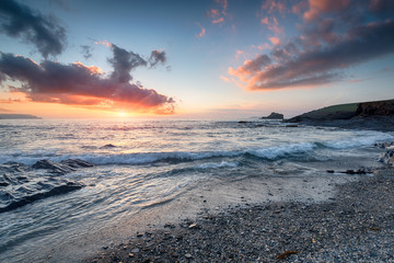 Sunset at Trevone Bay
