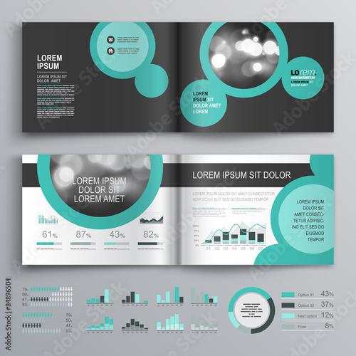 Infographic design brochure