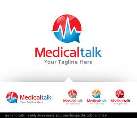 Medical Talk - Consultant Logo Design Template - Vector