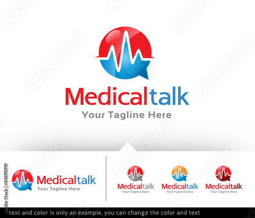 medical talk consultant logo design template vector stock image