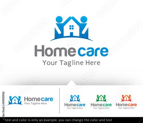 home care logo design template vector pic 84900946. Black Bedroom Furniture Sets. Home Design Ideas
