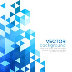 Abstract background made up of blue triangular shapes