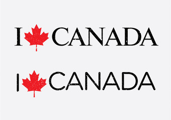 I Love Canada Vector Template