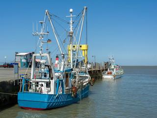 Fischkutter im Hafen auf Nordstrand
