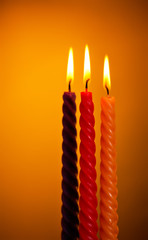Three Candles On Yellow