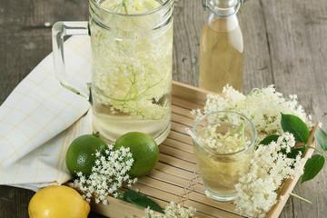 Elder syrup lemonade