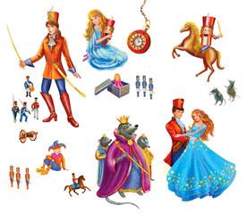 Set cartoon Characters  for fairy tale Nutcracker