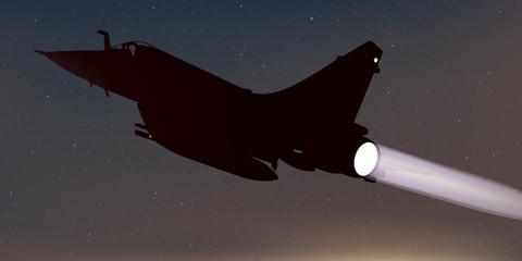 Avion de chasse - nuit