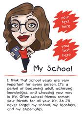 design works about school schoolgirl picture