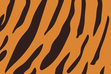 Vector illustration of tiger stripe pattern.
