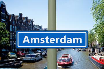 Amsterdam Ortsschild