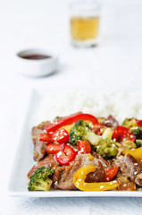 pepper broccoli beef stir fry
