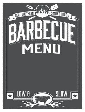 Genuine Southern Barbecue Menu Template