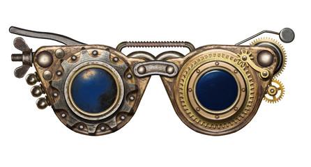 Wall Mural - Steampunk goggles