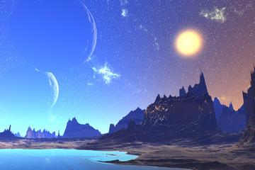 Fantasy alien planet.