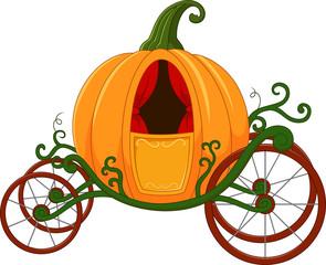 Cartoon Pumpkin carriage