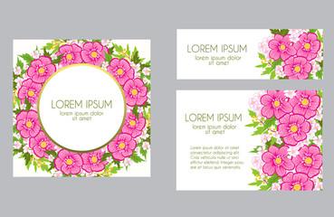 Set of greeting card
