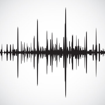 Vector sound waves background